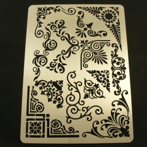 Leathercraft Stencil Decorative Corner Patterns